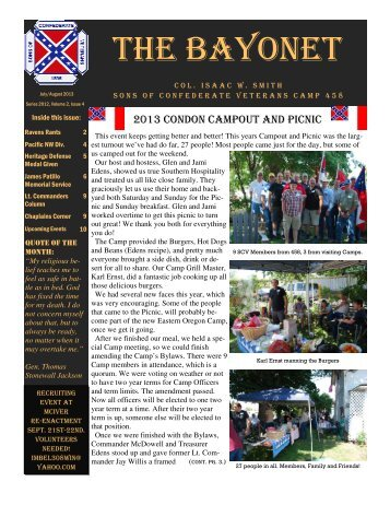 The Bayonet July/August 2013 - Scvportland.org