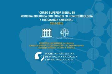 """""""Curso superior Bienal en MediCina BiológiCa Con ... - SAMByH"""