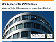 B&IT-Handout: EPO-Connector for SAP Interfaces
