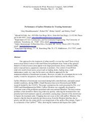 Performance of upflow filtration for treating ... - Unix.eng.ua.edu