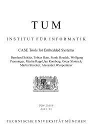 INSTITUT F¨UR INFORMATIK CASE Tools for Embedded Systems