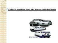 Ultimate Bachelor Party Bus Service in Philadelphia