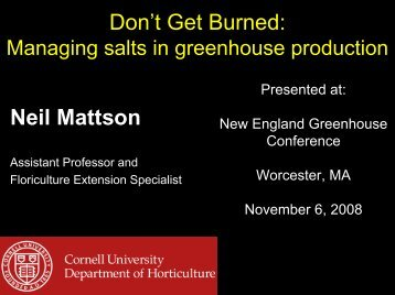 Don't get burned - Cornell Greenhouse Horticulture