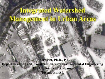 """Pitt, R. """"Integrated Watershed Management in ... - Unix.eng.ua.edu"""