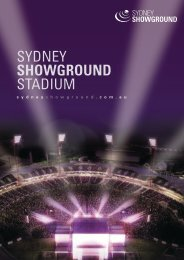Download Stadium Fact Sheet - Sydney Showground