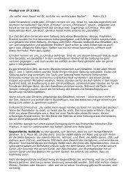 Du salbst mein Haupt mit Öl Predigt vom 27.3.2011 - EMK Kloten ...