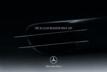 THE SL-CLASS ROADSTER PRICE LIST - Mercedes-Benz UK