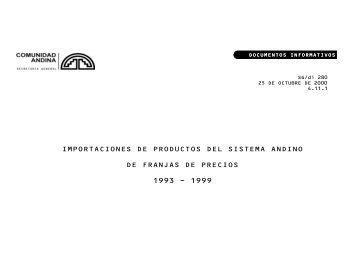 IMPORTACIONES DE PRODUCTOS DEL SISTEMA ... - Intranet