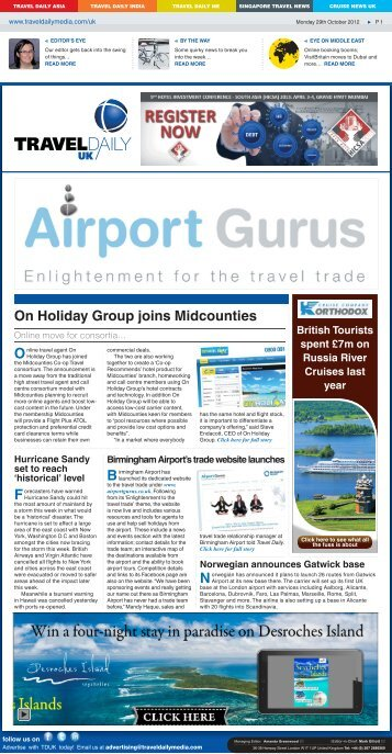Monday 29th October 2012.indd - Travel Daily Media