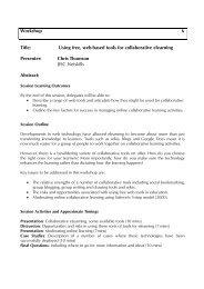Using free, web-based tools for collaborative elearning - Seda