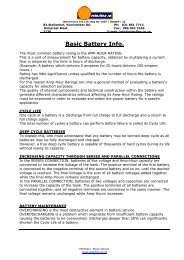 Battery Types and Info on Batteries - Download PDF
