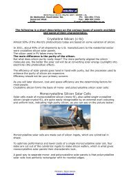 Different types of Solar Panels explained - a brief guideline