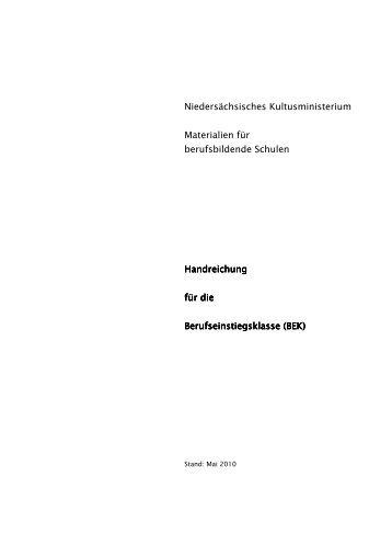 Handreichungen für die BEK - Bvj.nibis.de