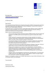 AEPCA Submission to the IPART Review of NSW Climate Change ...
