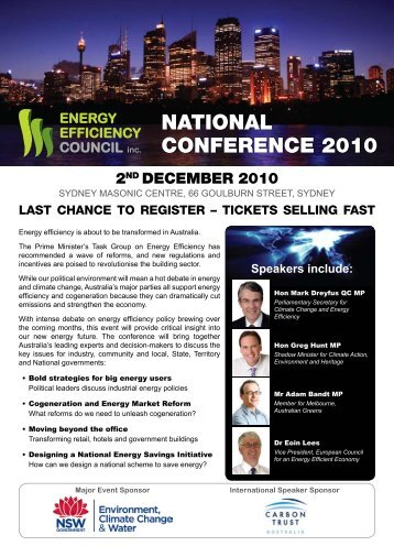 Download the full program - Energy Efficiency Council