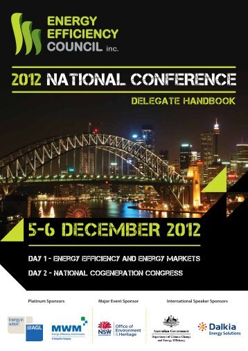 5-6 DECEMBER 2012 - Energy Efficiency Council