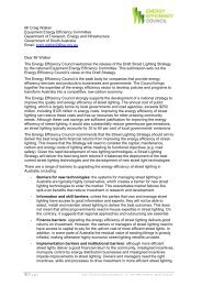 EEC Submission on Draft Street Lighting Strategy, September 2011