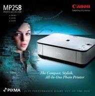 pixma mp258 - Canon Marketing (Philippines)