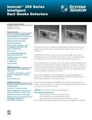 Innovair™ 200 Series Intelligent Duct Smoke Detectors - Cerber.pro