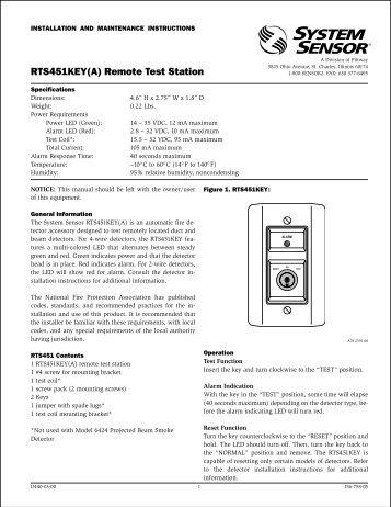 rts451keya remote test station?quality=85 rts151 remote test station system sensor rts451 wiring diagram at reclaimingppi.co