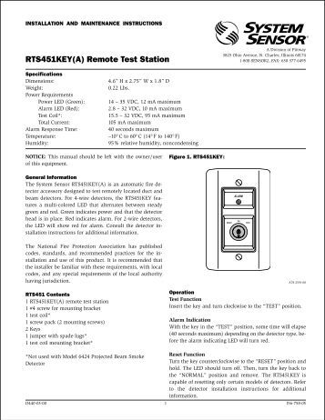 rts151key a remote test station system sensor rts451key a remote test station