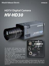 Datasheet HV-HD30 HDTV-Camera ( PDF: 1813kb) - EHD imaging ...
