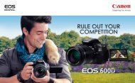 RULE OUT YOUR COMPETITION - Canon Marketing (Philippines)