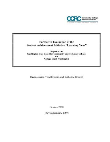 CCRC Formative Evaluation of the Student Achievement Initiative ...
