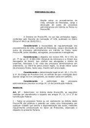 Portaria nº 02 de 13/09/11 - Procon