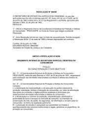 Resoluçao SEJU 066, de 29/07/98 - Procon - Estado do Paraná