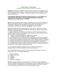 Lei 15.442-07 Proteção e saúde dos consumidores em Lan ... - Procon