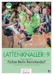 LATTENKNALLER 9 - GAST: Füchse Berlin Reinickendorf - 07.03.2015 - SAISON 2014/2015