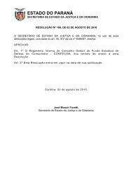 Resolução nº 188, de 02/08/2010 - Procon - Estado do Paraná