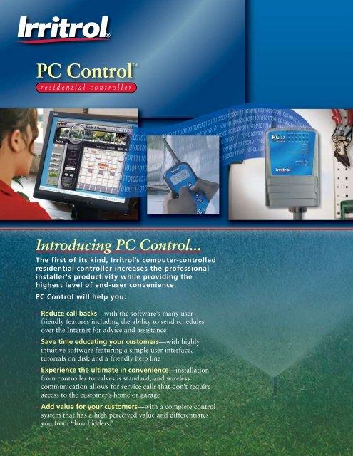 "PC Controlâ""¢ - Irritrol"