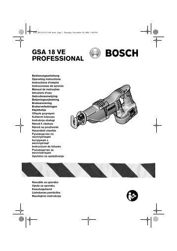 GSA 18 VE PROFESSIONAL - produktinfo.conrad.com