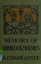 Memoirs of Sherlock Holmes - North Central Michigan College Library