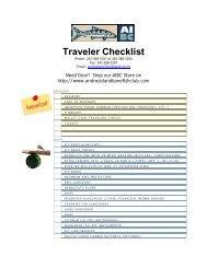 Traveler Checklist