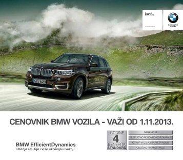 Preuzmite Aktuelni cenovnik za sve BMW modele iz ponude. - BMW-a