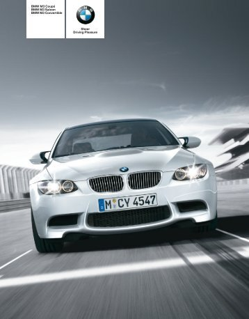BMW M3 Coupé BMW M3 Saloon BMW M3 Convertible ... - BMW-a