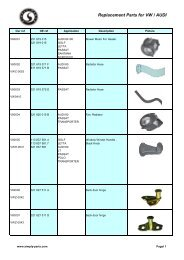 Replacement Parts For VW / AUDI - Simply-Parts