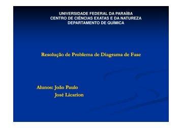 Resolução Diagrama de Fases - Departamento de Química - UFPB