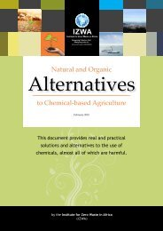 Natural And Organic Alternatives - Institute for Zero Waste