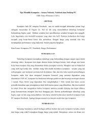 Tips Memilih Komputer : Antara Netbook, Notebook ... - Kontak UGM
