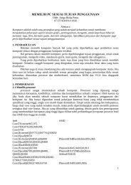 MEMILIH PC SESUAI TUJUAN PENGGUNAAN - Kontak UGM