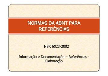 Aula 4 - Normas da ABNT para Referências - Quimica.ufpb.br
