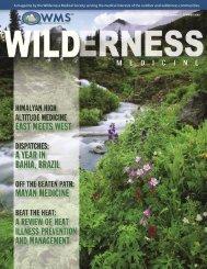 Summer, 2005 - Wilderness Medical Society