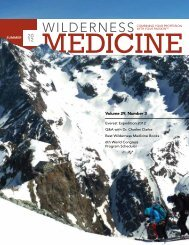 Volume 29, Number 3 - Wilderness Medical Society