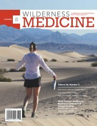 WMS Summer Wilderness Medicine Conference & Annual Meeting ...