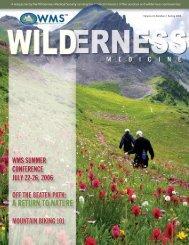 Volume 23, Number 2 Spring 2006 - Wilderness Medical Society