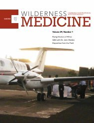 Volume 29, Number 1 - Wilderness Medical Society